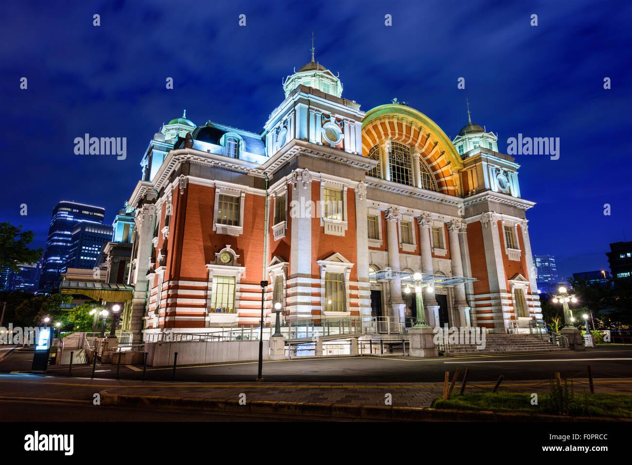 Osaka, Japón en Osaka Hall público central que data de 1918. Imagen De Stock