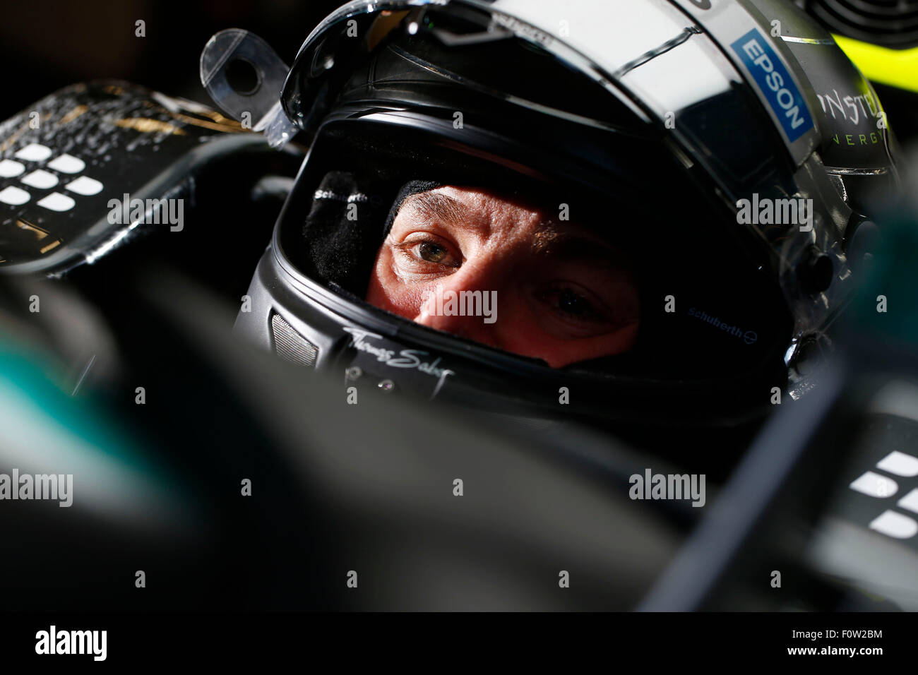 Circuito de Spa-Francorchamps, Bélgica. 21 Aug, 2015. Automovilismo: Campeonato del Mundo de Fórmula Uno Imagen De Stock
