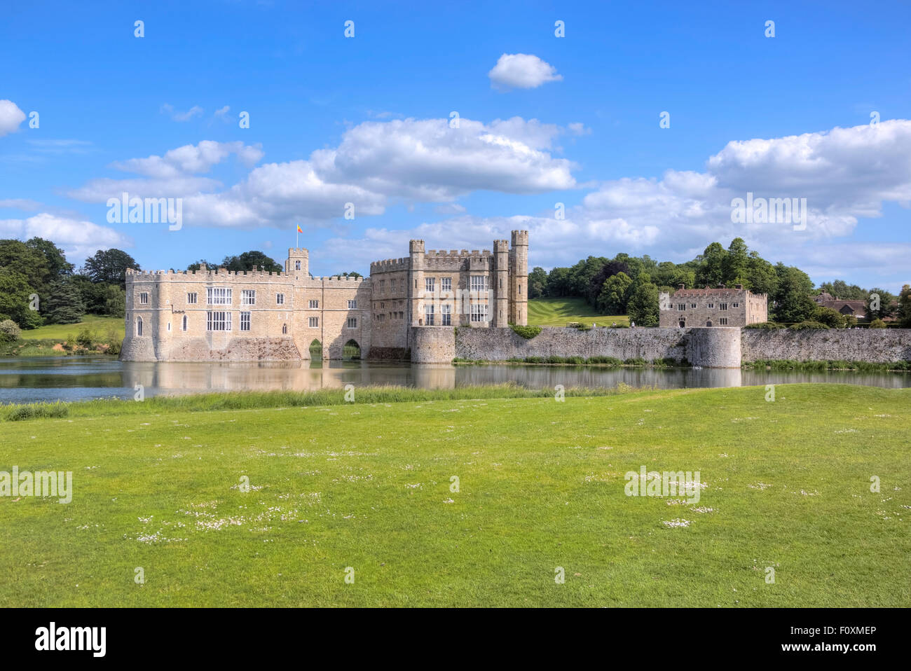 Castillo de Leeds, Maidstone, Kent, Inglaterra, Reino Unido Imagen De Stock
