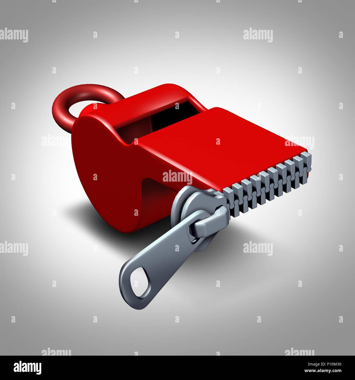 Whistleblower silencio concepto o intimidación símbolo y chivato silenciado a permanecer tranquilo como Imagen De Stock