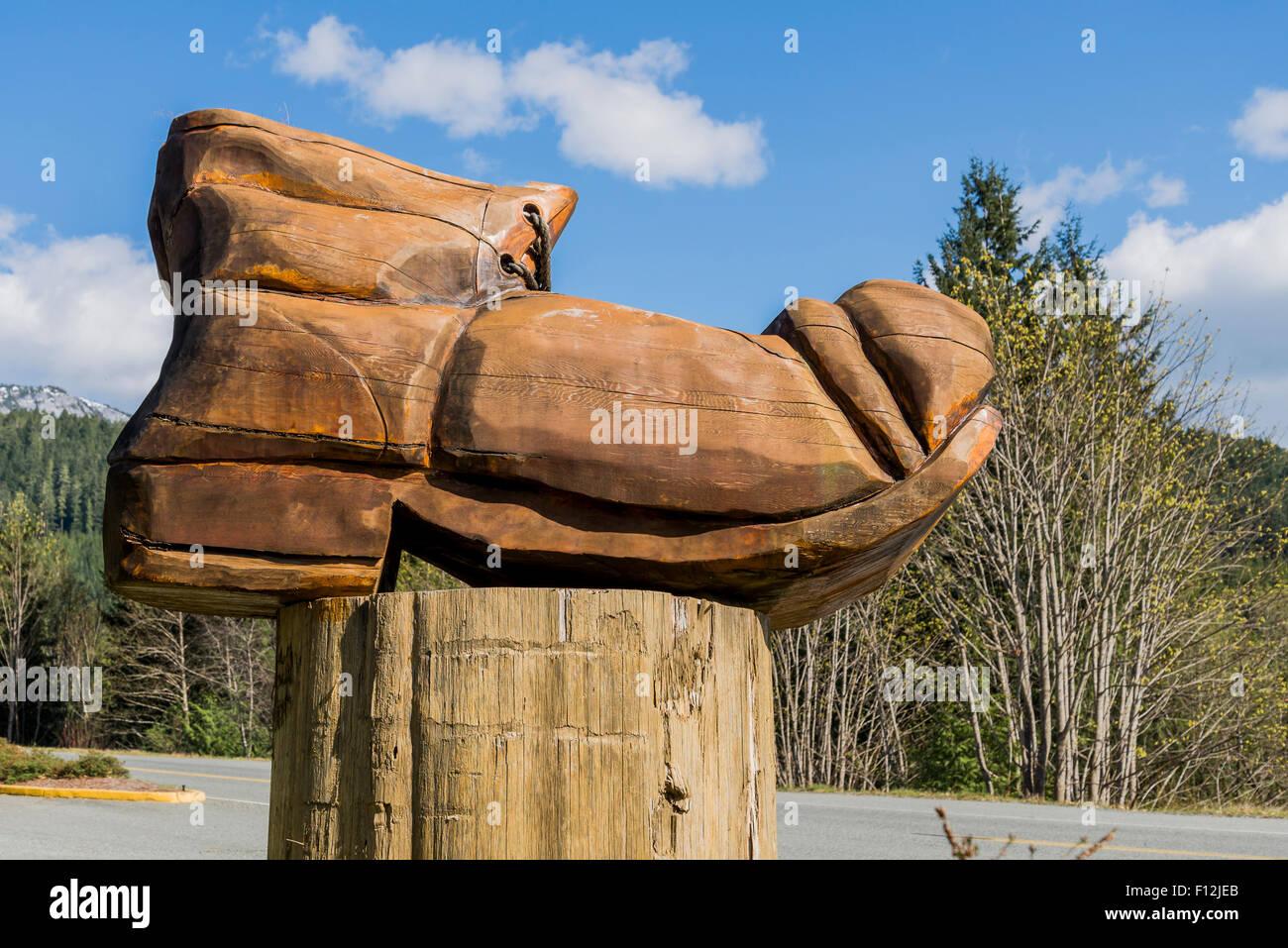 Gran arranque senderismo carving, Río de Oro, en la isla de Vancouver, British Columbia, Canadá Imagen De Stock