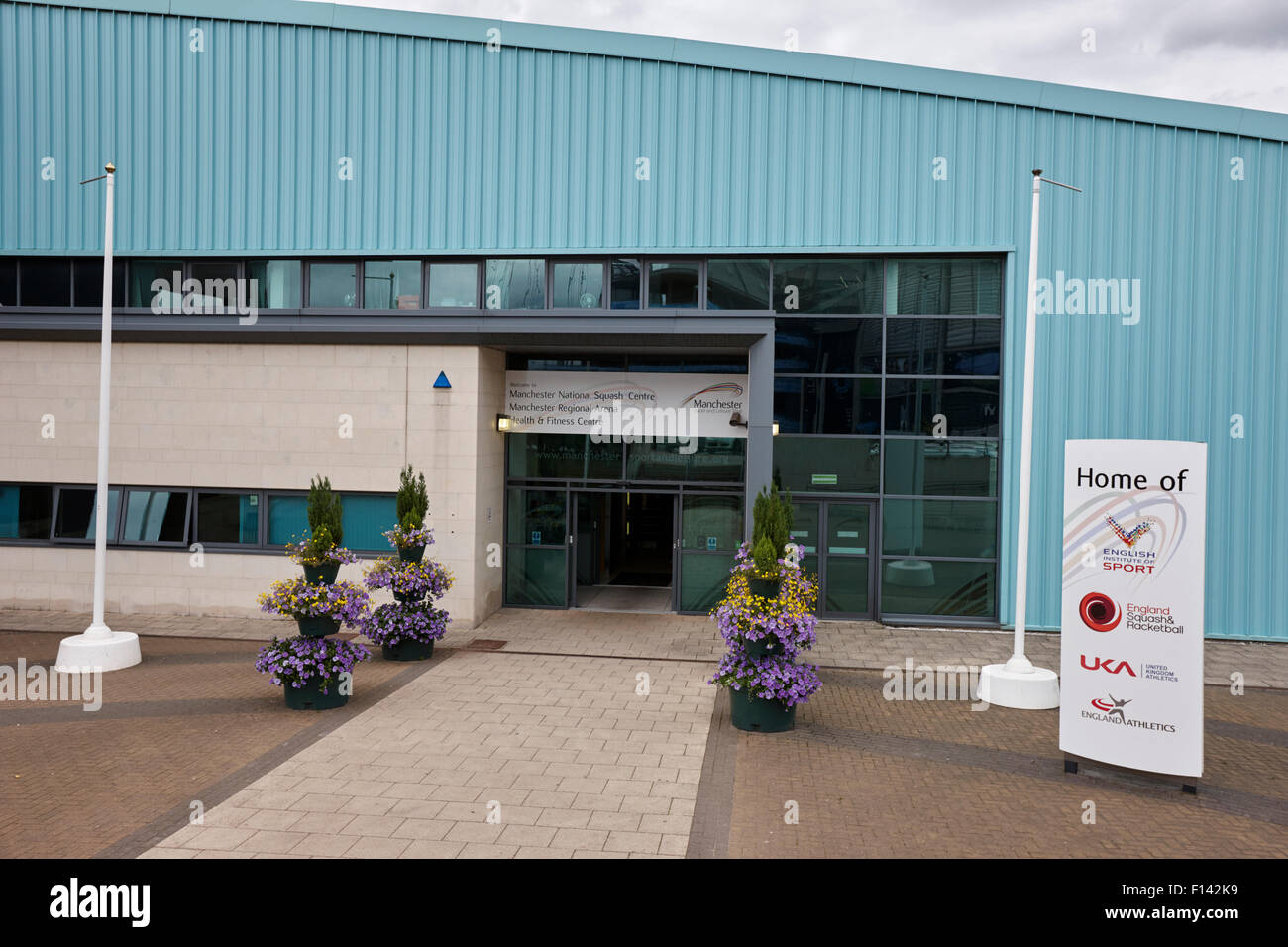 Centro nacional de squash de Manchester y de ámbito regional uk Imagen De Stock
