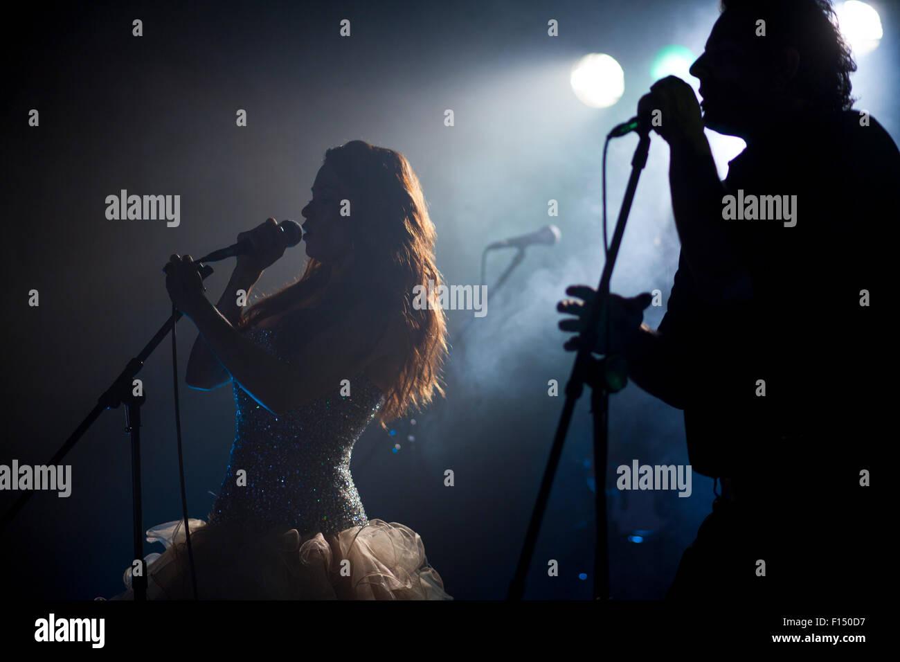 Provo, Utah, EE.UU., concierto de música Foto de stock