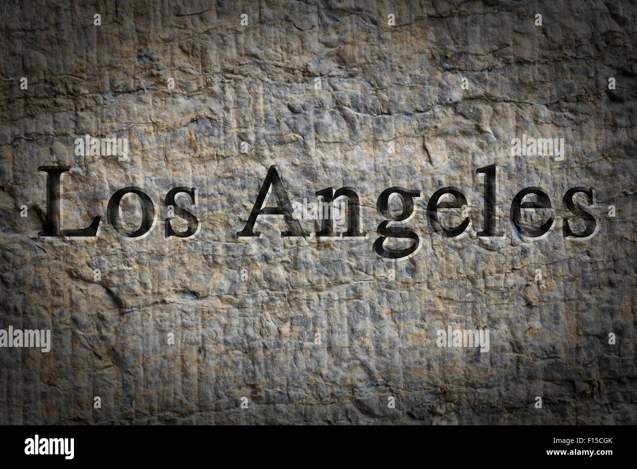 Engraving Spelling City Los Angeles Imágenes De Stock & Engraving ...