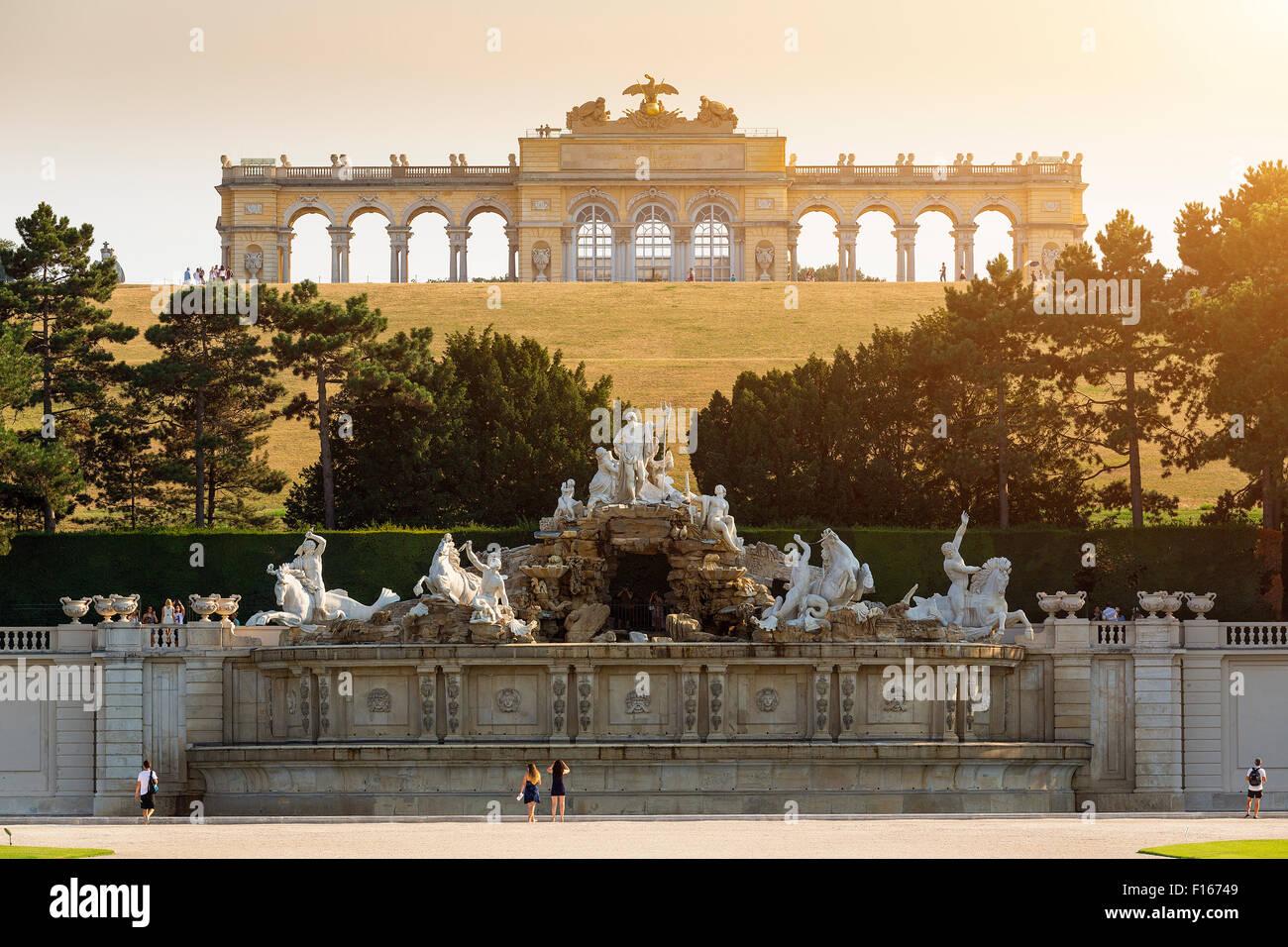 Gloriette Schonbrunn en Viena Imagen De Stock