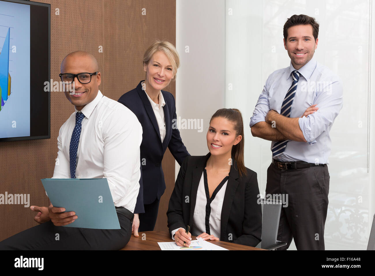 Retrato de un grupo de personas de negocios Imagen De Stock