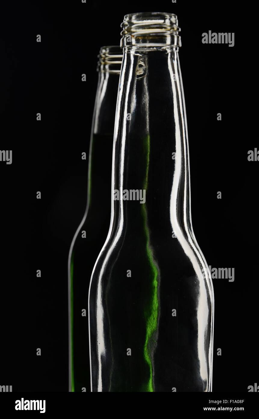 Luz lateral utilizando 1 botella de luz para crear luz de contorno de la botella Imagen De Stock