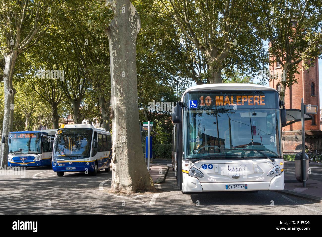 Toulouse Francia Buses Imagen De Stock