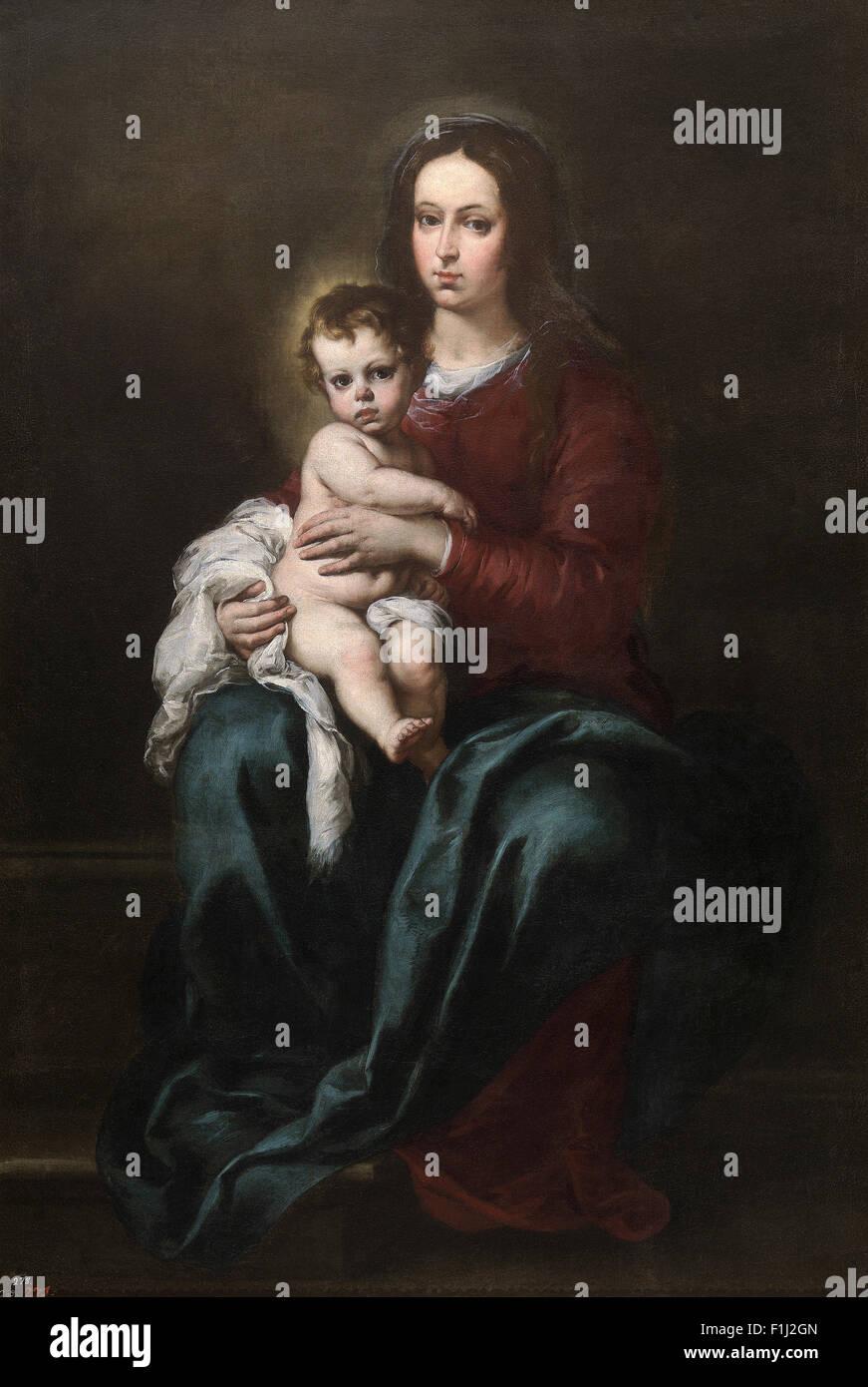 Bartolomé Esteban Murillo - La Virgen y el niño 13 Imagen De Stock