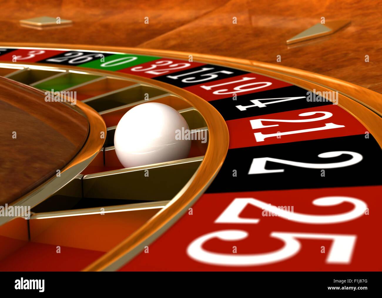 3D Render de closeup detalle de casino ruleta Imagen De Stock