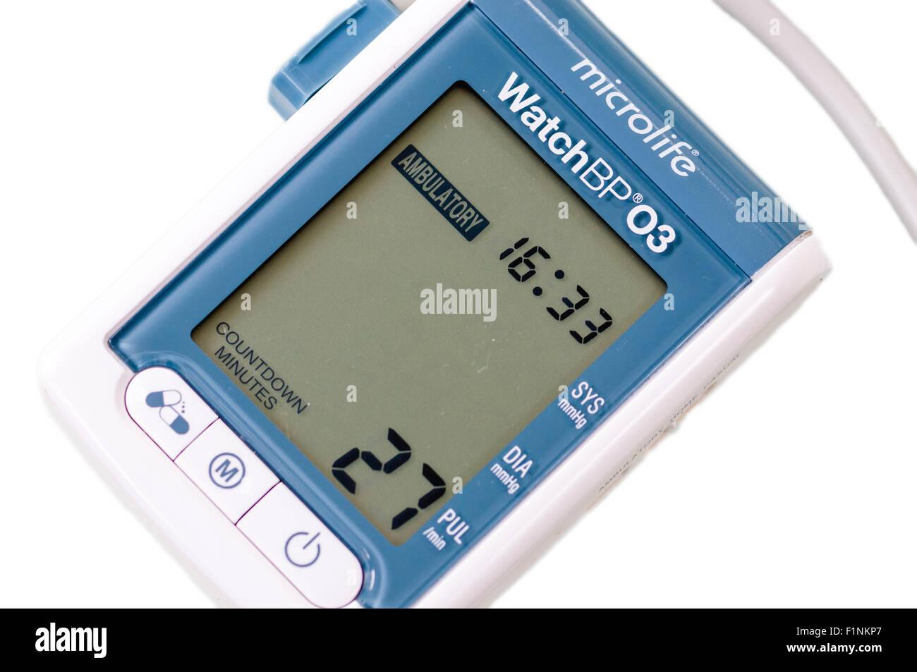 Microlife WatchBP03 monitor ambulatorio de presión arterial Foto de stock