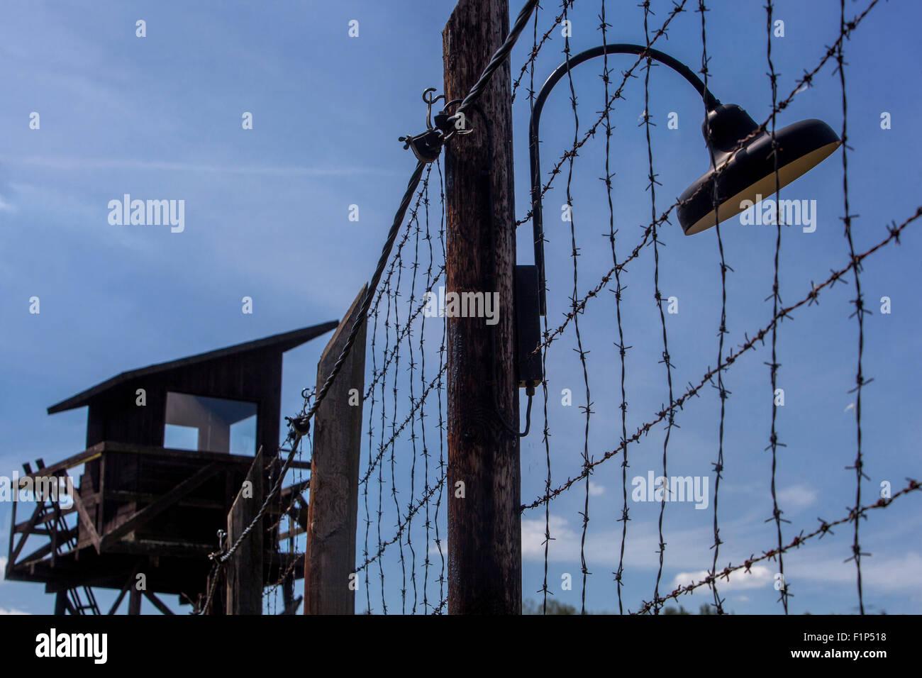 Checoslovaquia el comunismo, la guerra fría, la República Checa, Atalaya de madera Imagen De Stock