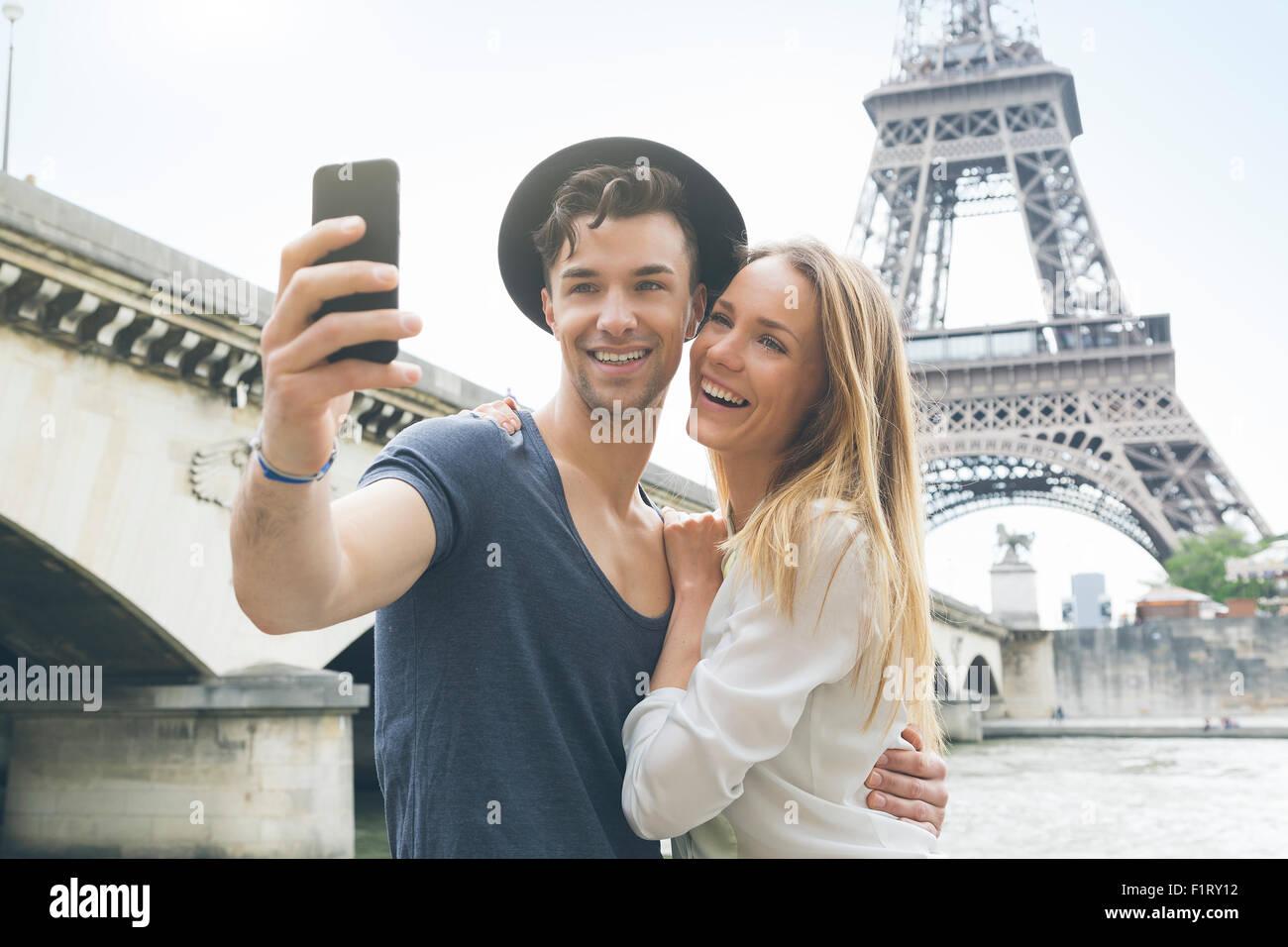 Par visitar París Foto de stock