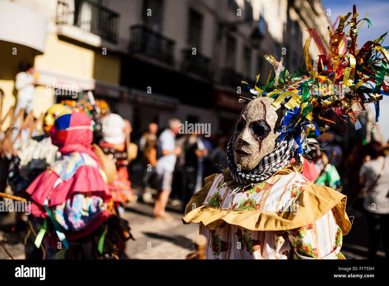 Festival Internacional de máscara Ibérica, Lisboa, Portugal, Europa Imagen De Stock