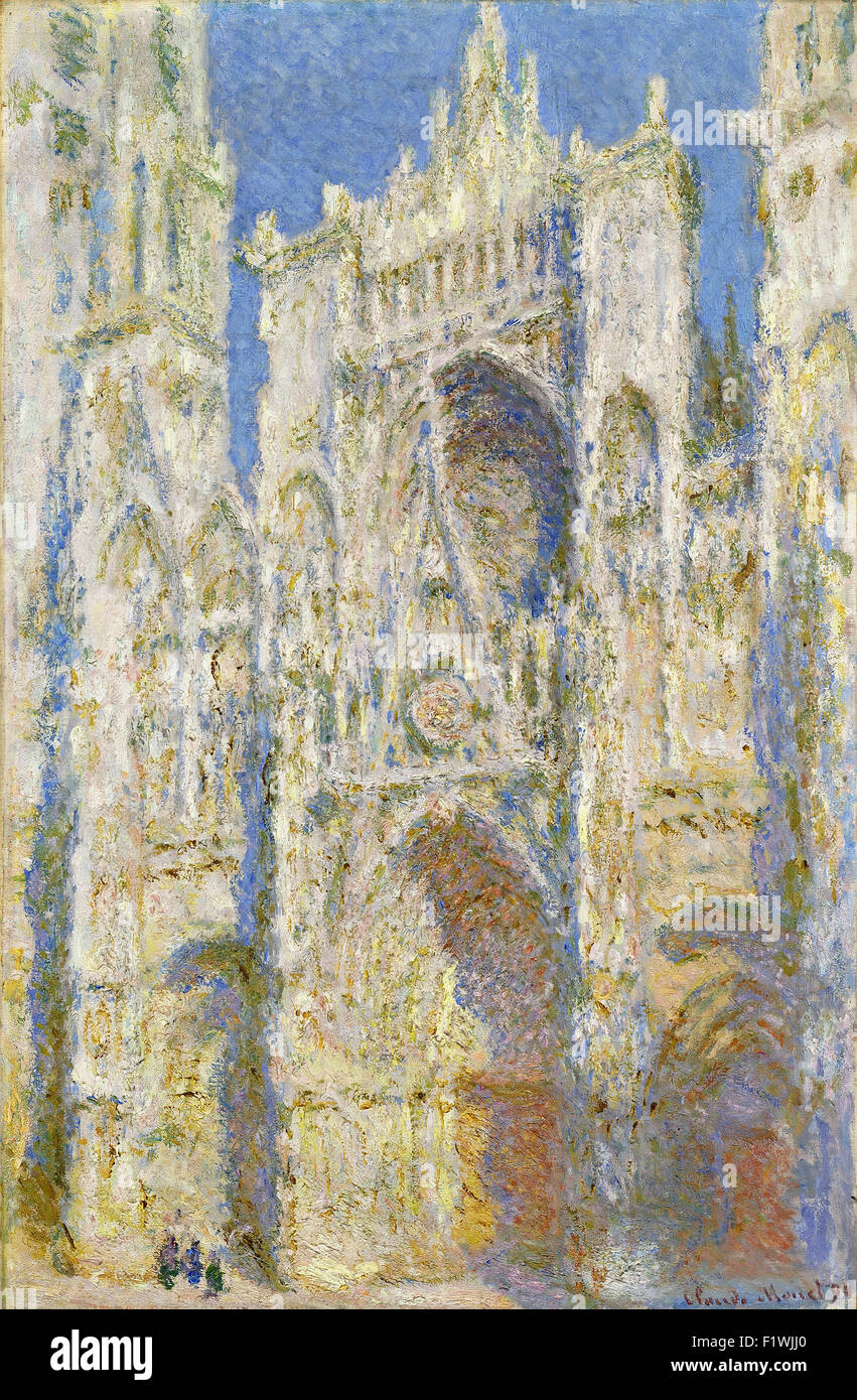 Claude Monet - Catedral de Rouen, la fachada occidental, la luz del sol Imagen De Stock