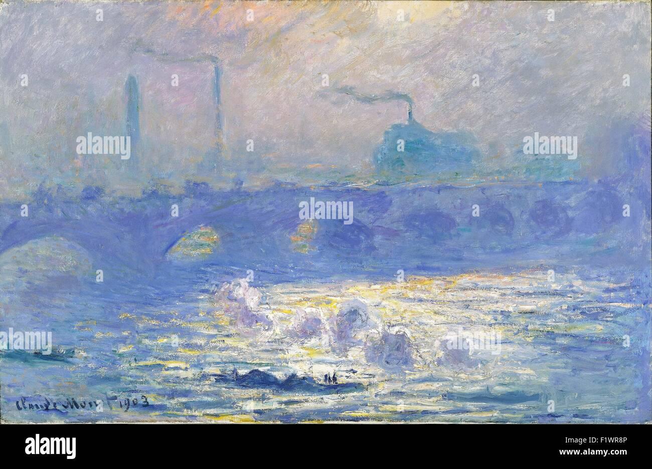 Claude Monet - Waterloo Bridge 38 Imagen De Stock