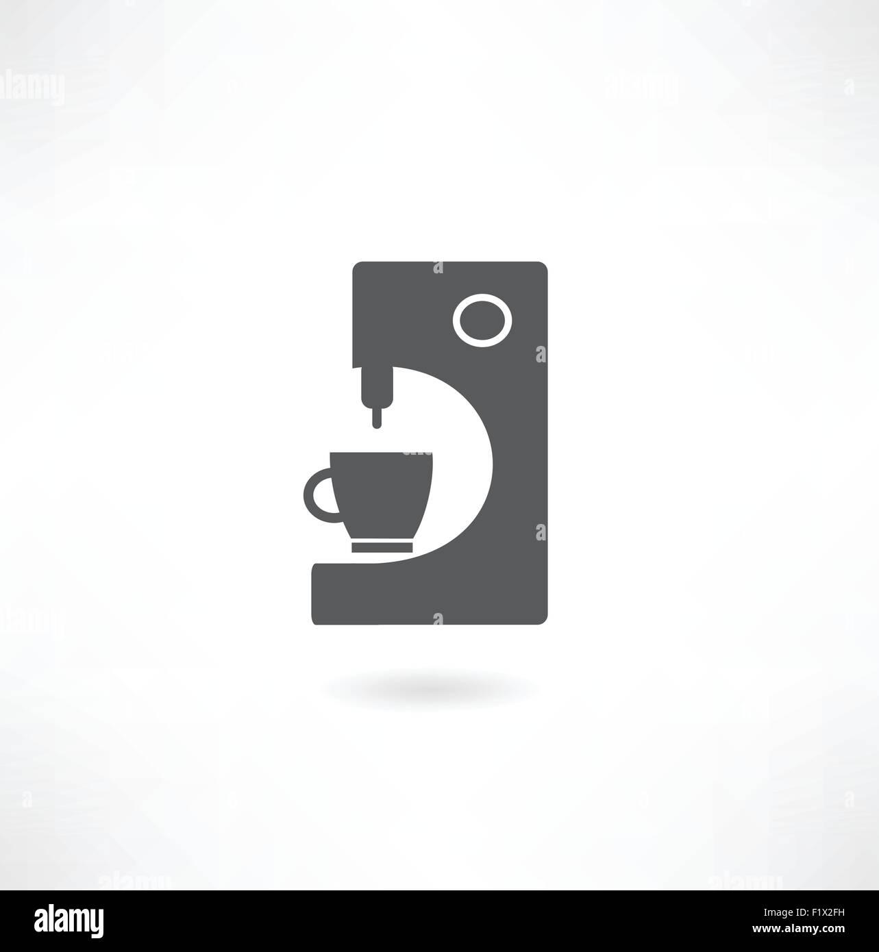 Máquina de café, cafetera símbolo Imagen Vector de stock Alamy