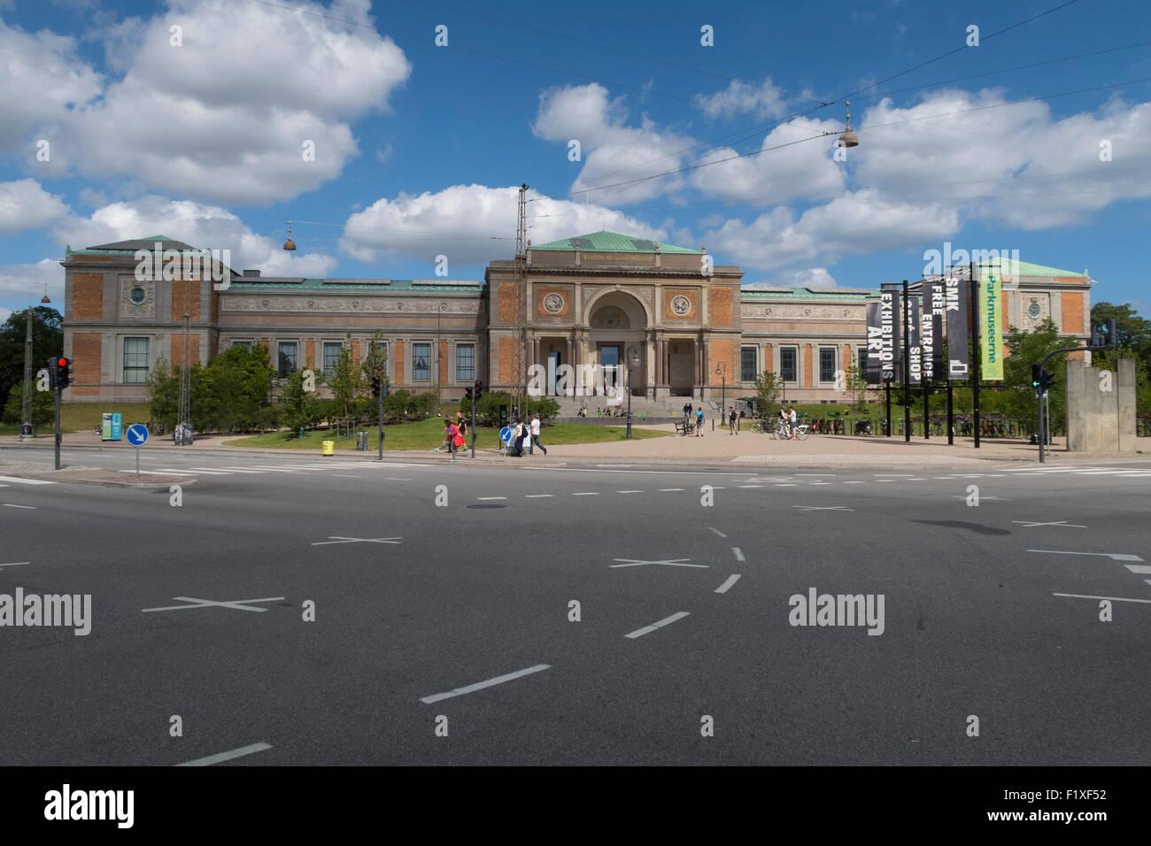 Statem Museum for Kunst (Galería Nacional) en Copenhague, Dinamarca Foto de stock