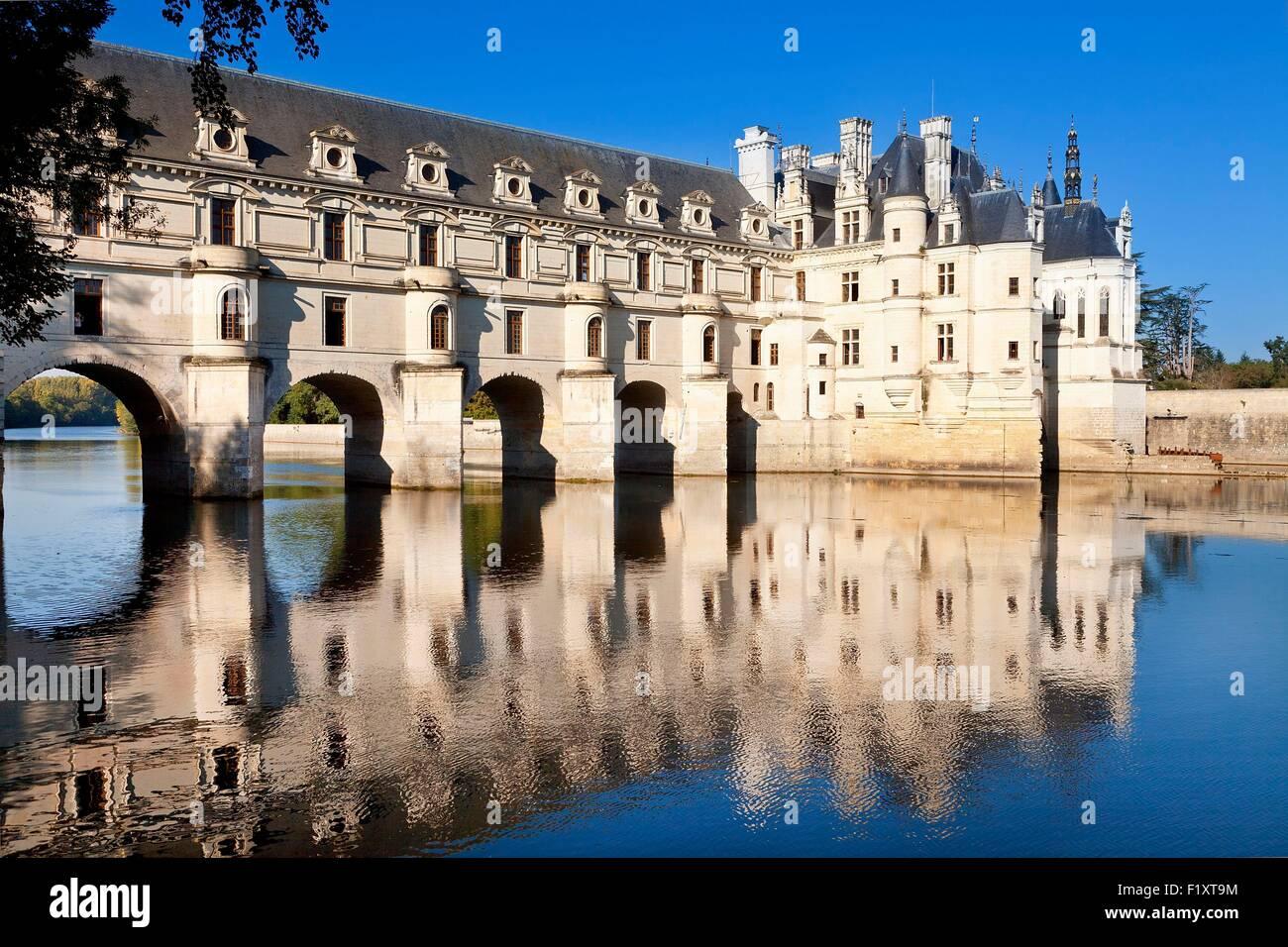 Francia, Indre et Loire, el castillo de Chenonceau Imagen De Stock
