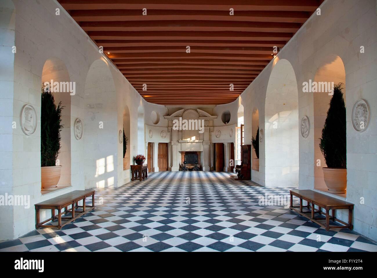 Francia, Indre et Loire, el castillo de Chenonceau, La Galería Imagen De Stock