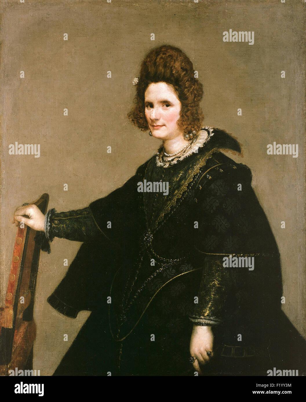 Diego Velázquez - Retrato de una dama Imagen De Stock