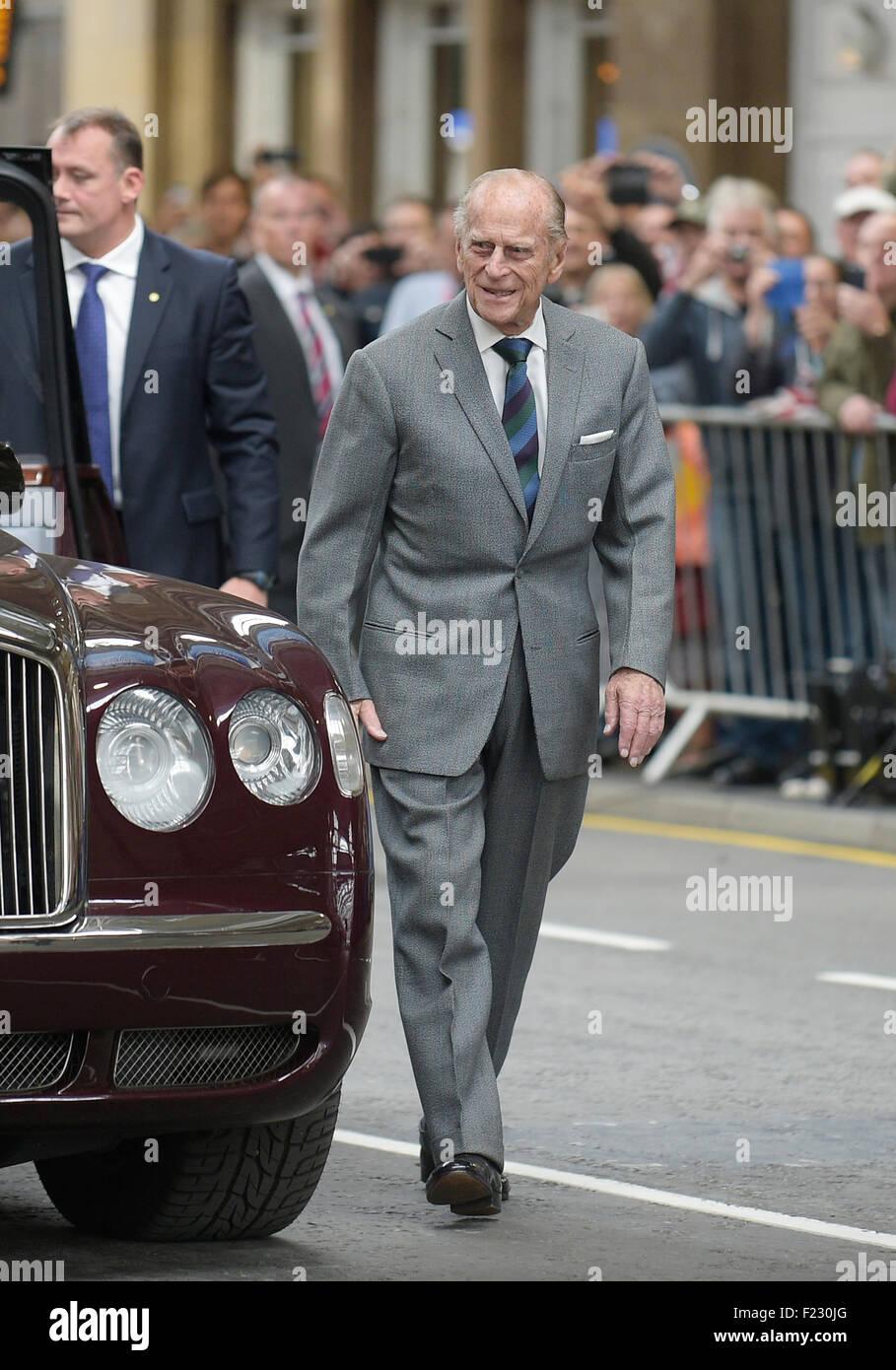 El príncipe Felipe, Duque de Edimburgo, Conde de Merioneth y Barón de Greenwich Imagen De Stock