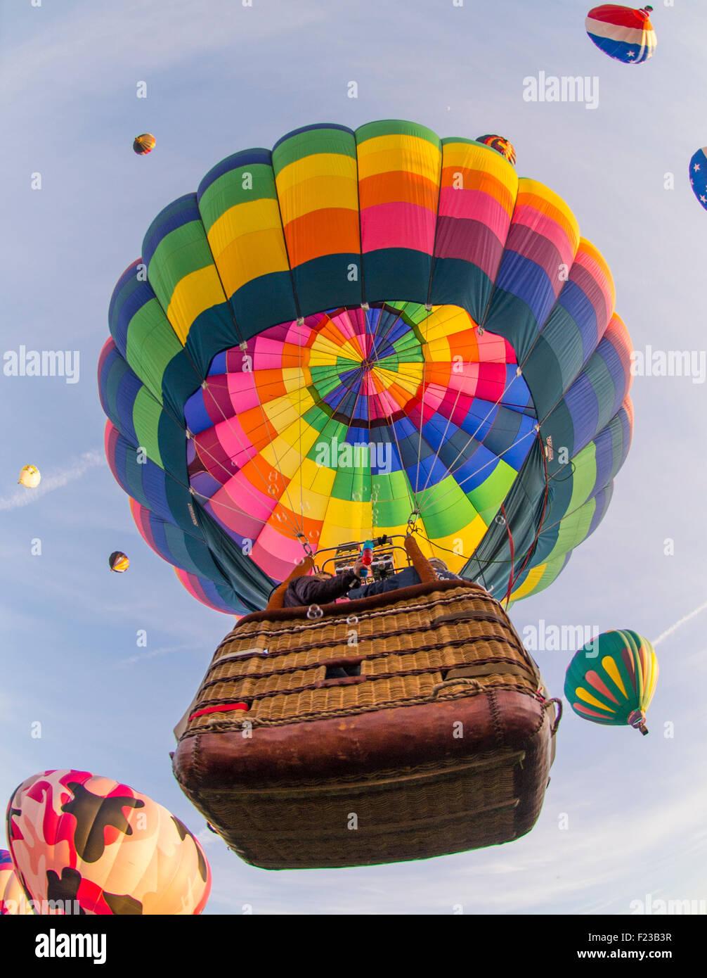 Los globos de aire caliente, Espíritu de Boise Balloon Classic, Ann Morrison Park, Boise, Idaho, EE.UU. Imagen De Stock