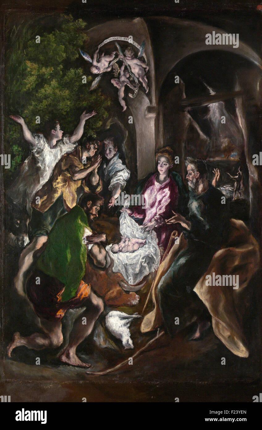 El Greco - La Adoración de los pastores 13 Imagen De Stock
