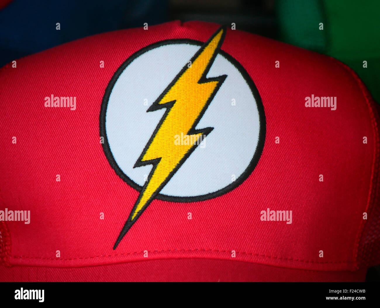Markennamen: 'Blitzmann', 'Roter Blitz' oder 'Flash', de Berlín. Foto de stock