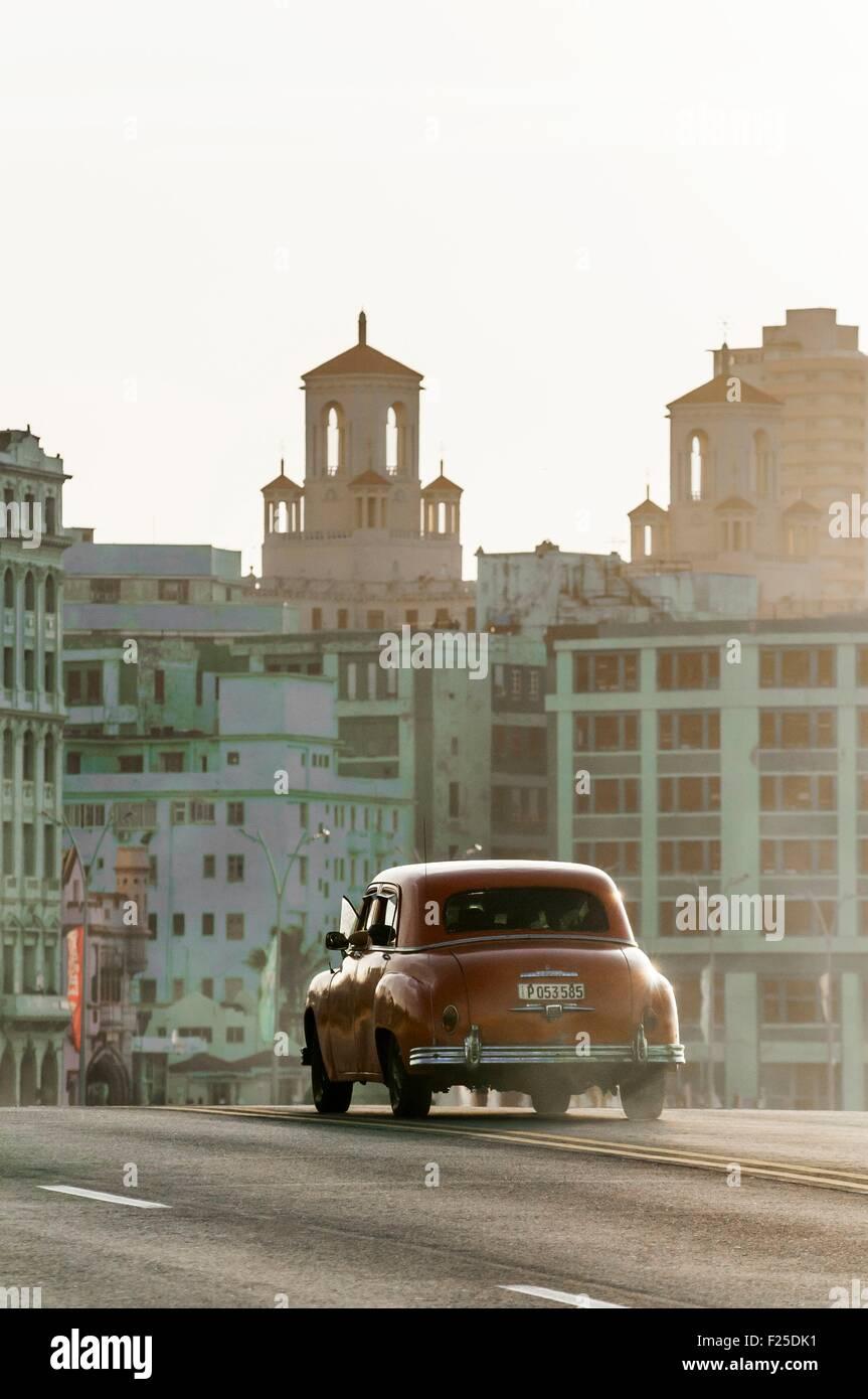 Cuba, La Habana, el Malecón, La Habana Centro barrio Imagen De Stock