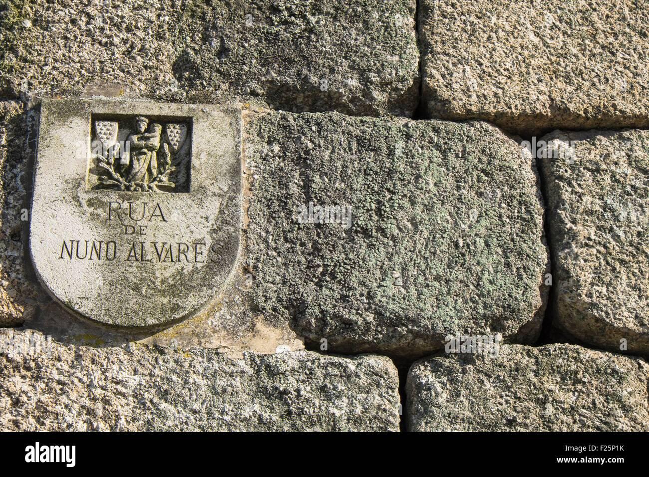 Portugal, región norte, Guimaraes, centro histórico catalogado como Patrimonio de la Humanidad por la UNESCO, el Foto de stock
