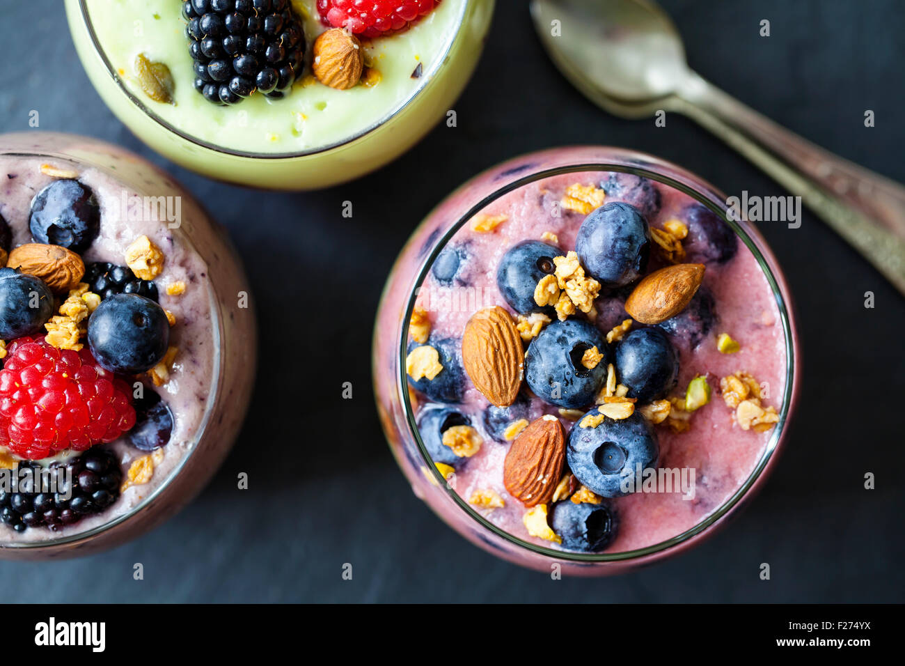Batidos de frutas Imagen De Stock