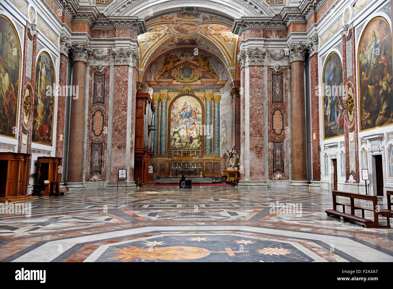La Basilica di Santa Maria degli Angeli e dei Martiri, basílica, Roma, Lazio, Italia Foto de stock