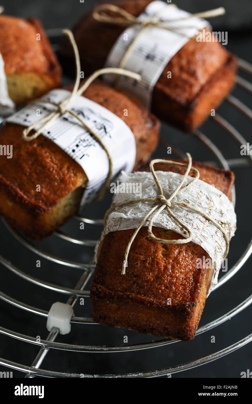 Financiador de vainilla tortas Foto de stock