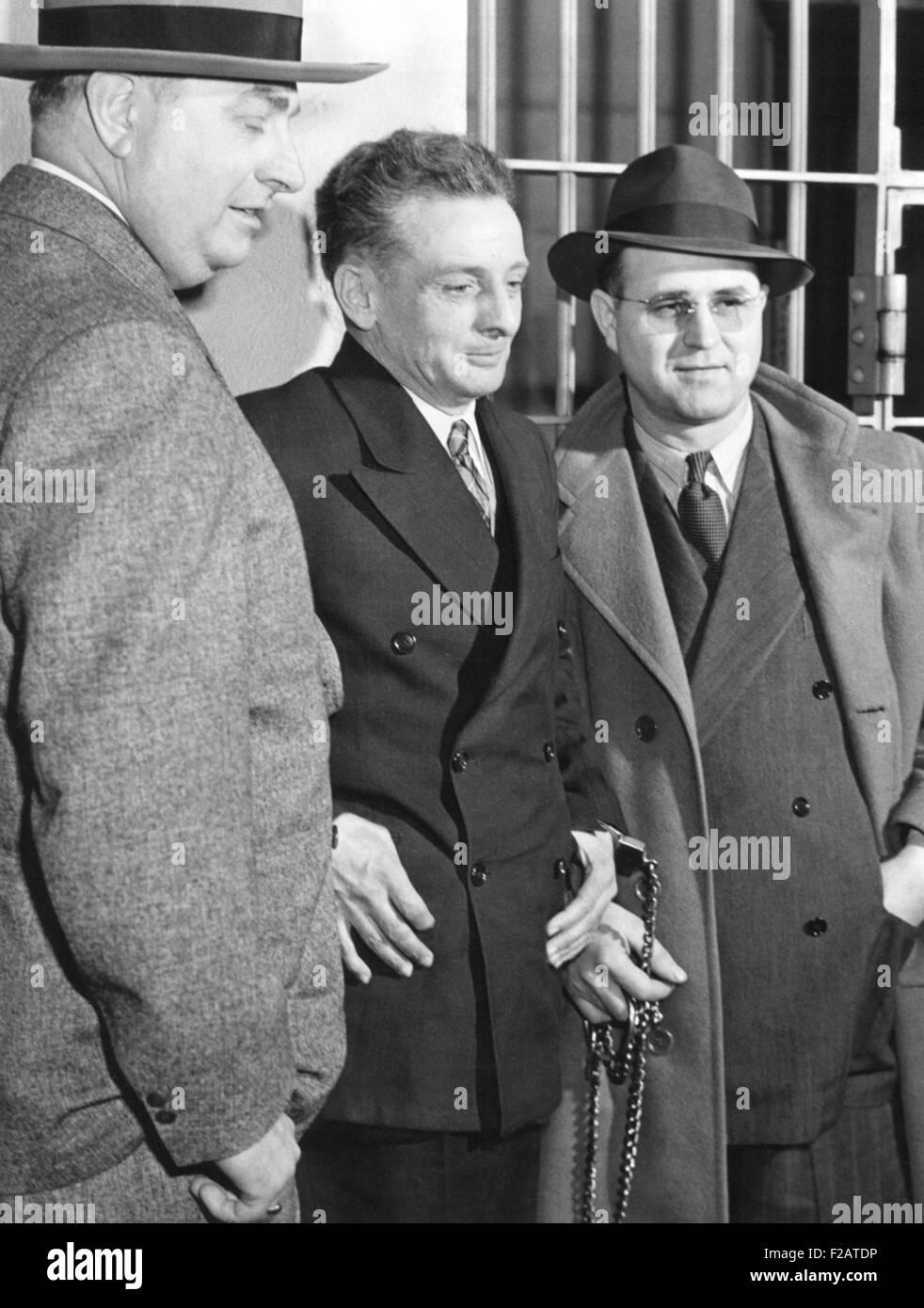 Roger Touly buscó un recurso de habeas corpus el 5 de enero de 1943. Afirmó que estaba enmarcada por el secuestro Foto de stock
