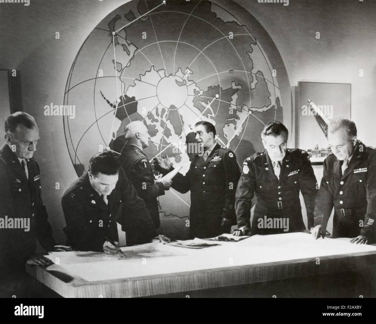 Película todavía de un ejército de los EE.UU. película sobre un hipotético ataque con una Imagen De Stock