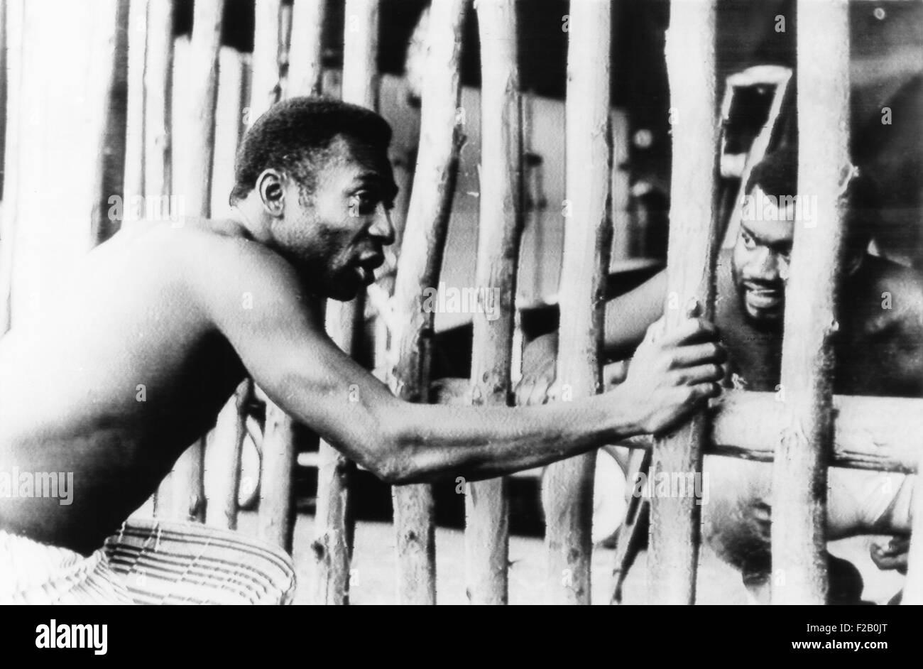 La superestrella del fútbol brasileño Pelé en la película de 1971 UNA MARCHA producida por Oswaldo Imagen De Stock