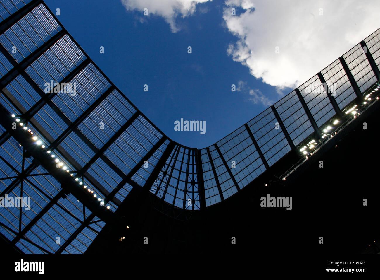 Manchester, Reino Unido. 15 Sep, 2015. Liga de Campeones. Manchester City vs Juventus. Una vista general de la ciudad Imagen De Stock