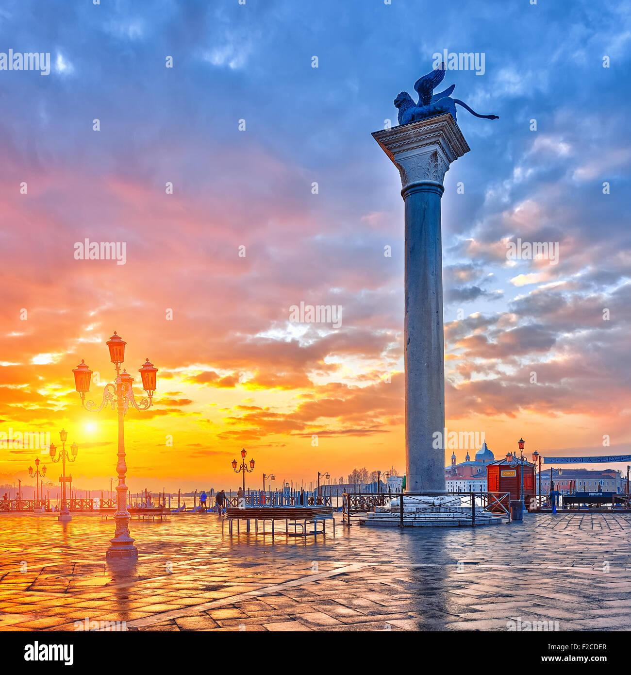 Amanecer en Venecia. Imagen De Stock