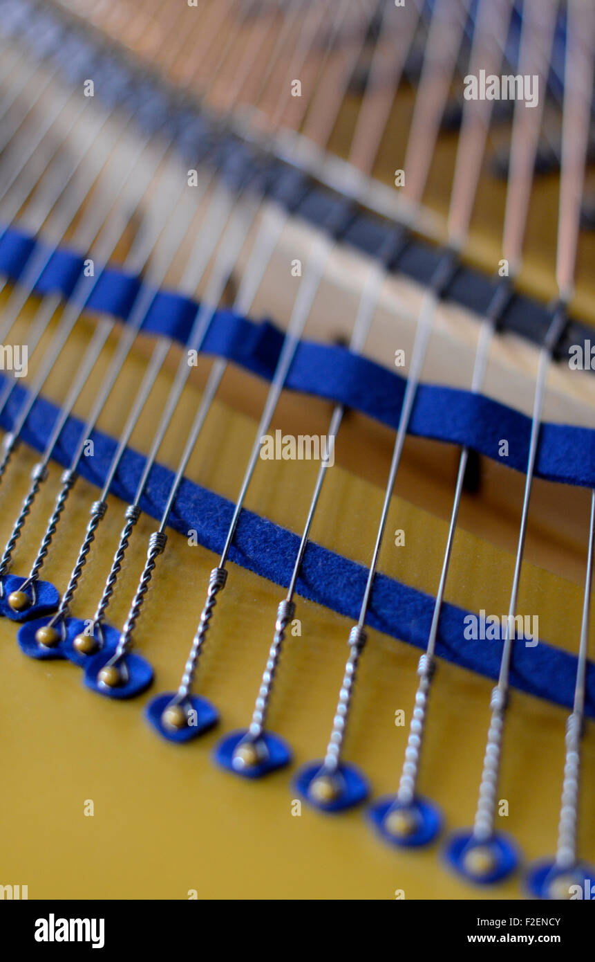Grand Piano strings Imagen De Stock