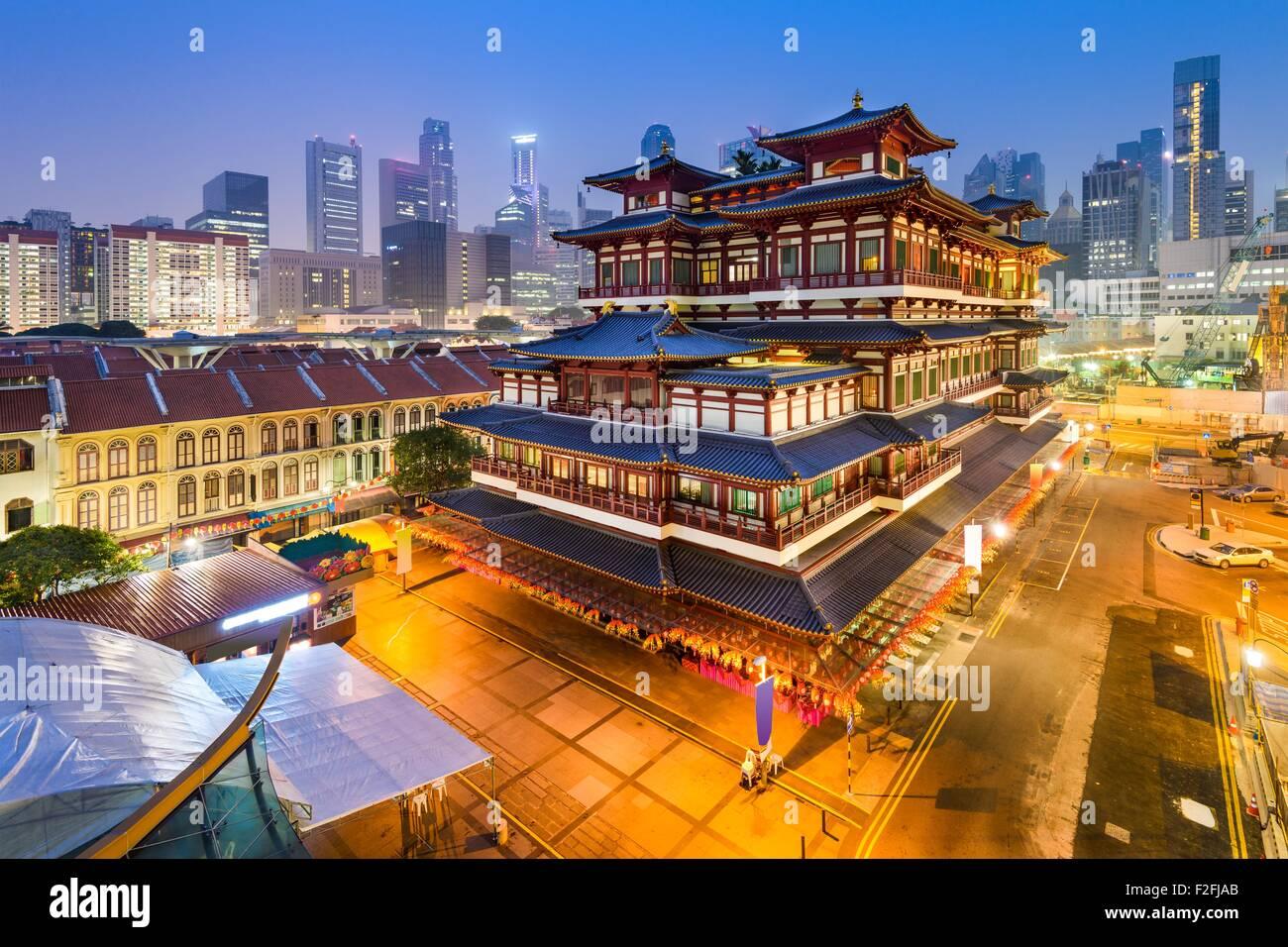 Singapur en la Reliquia del Diente de Buda Templo. Foto de stock