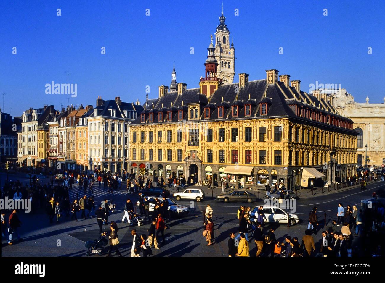 La Grand Place. Lille. Francia. Europa Imagen De Stock