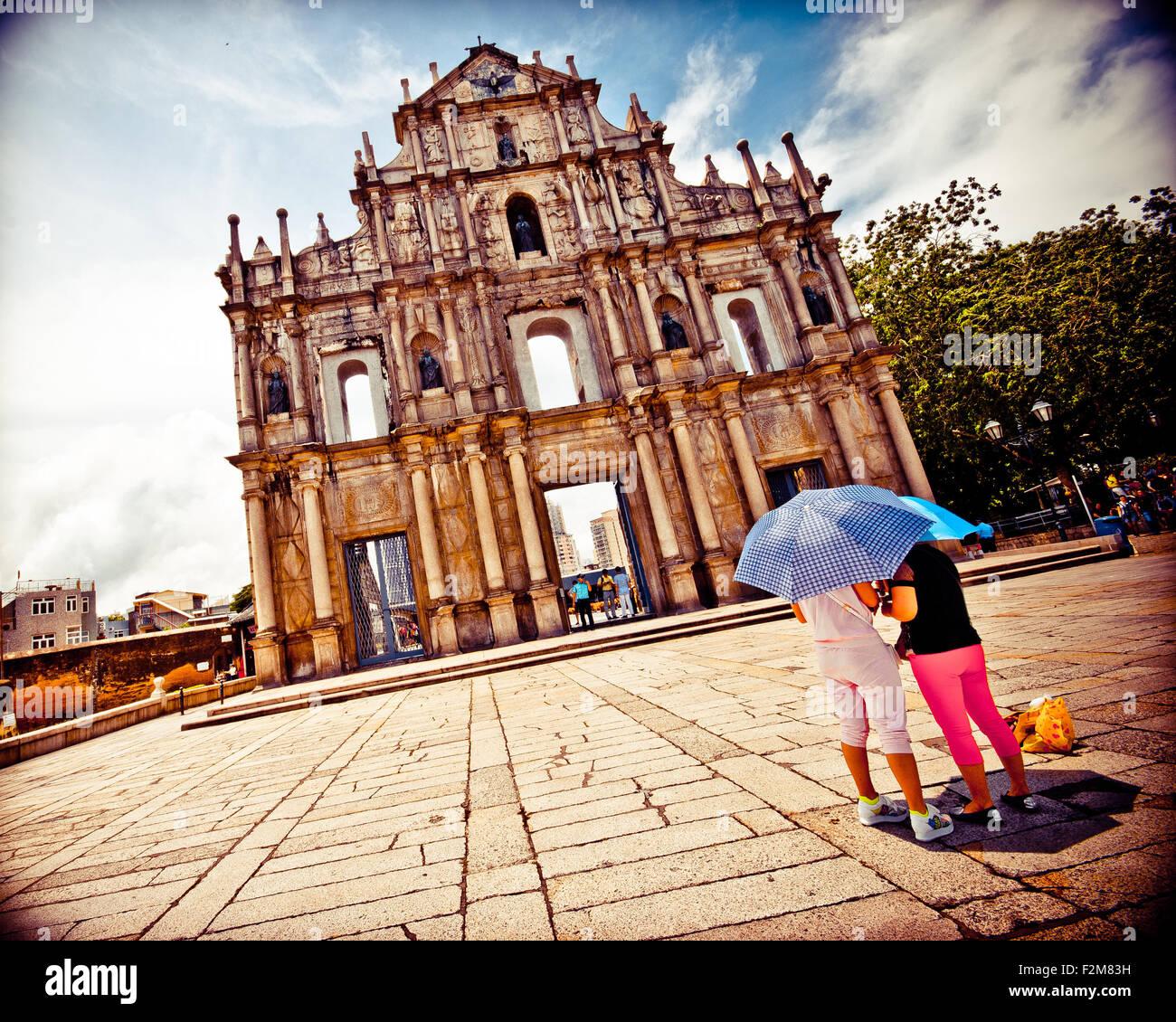 Macao, la Plaza del Senado. Imagen De Stock