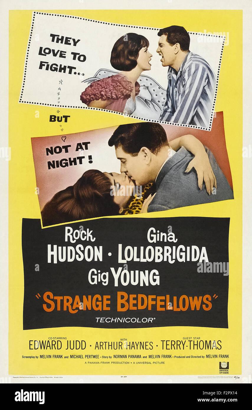 Extraños compañeros de cama (1965), película de carteles Imagen De Stock