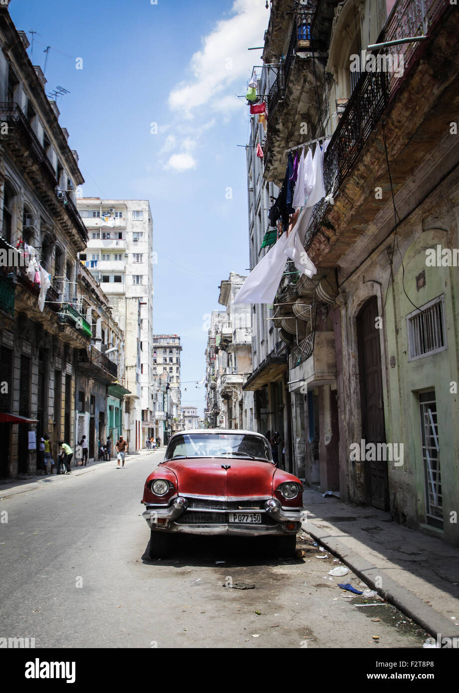 Coches clásicos de La Habana, Cuba Imagen De Stock