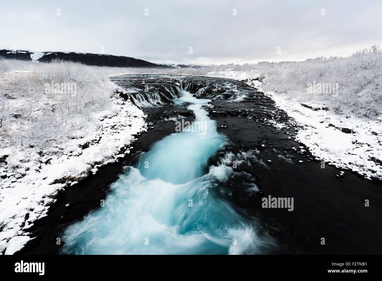 Cascada Bruarfoss Laugarvatn, Islandia Imagen De Stock