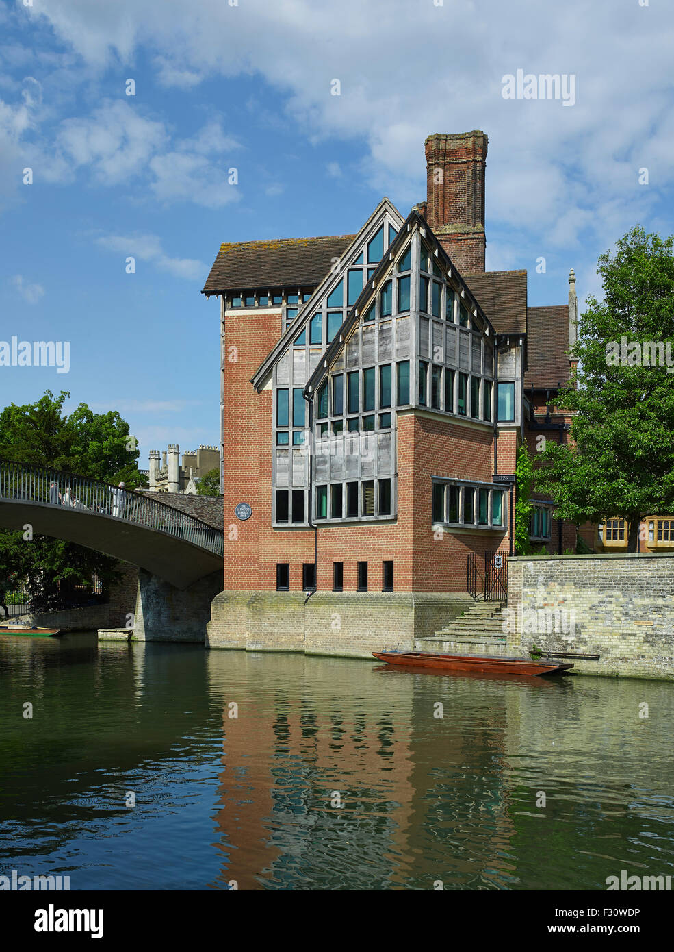 Cambridge, Trinity Hall, Jerwood Library por Freeland Rees Roberts, 1990 Imagen De Stock