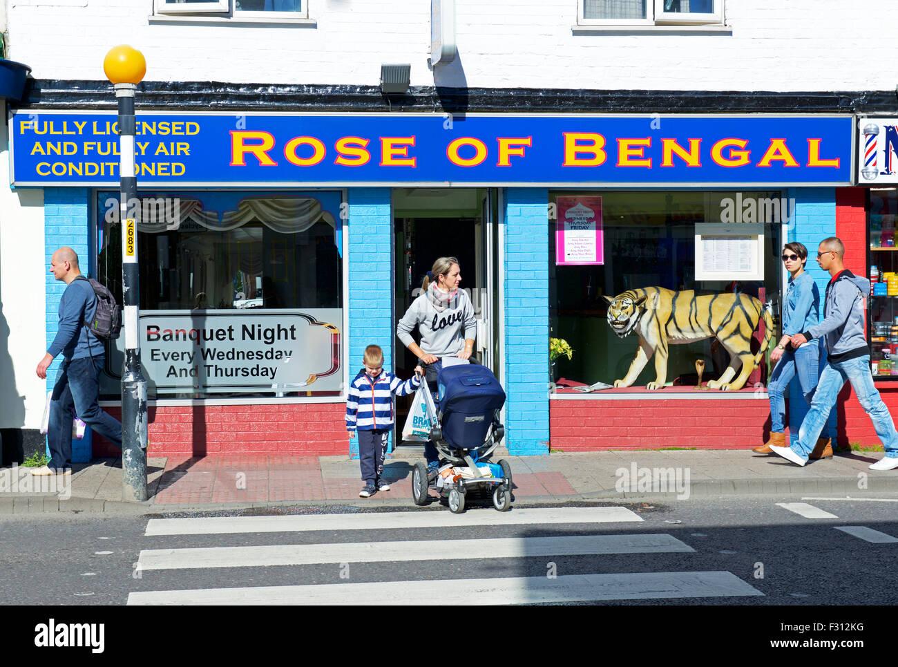 El rosa de Bengala, restaurante indio en Boston, Lincolnshire, Inglaterra Imagen De Stock