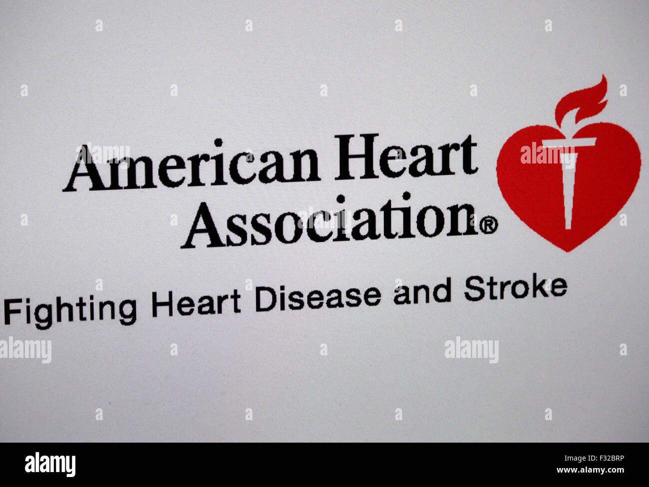 """Markenname: """"American Heart Association"""", Berlín. Imagen De Stock"""