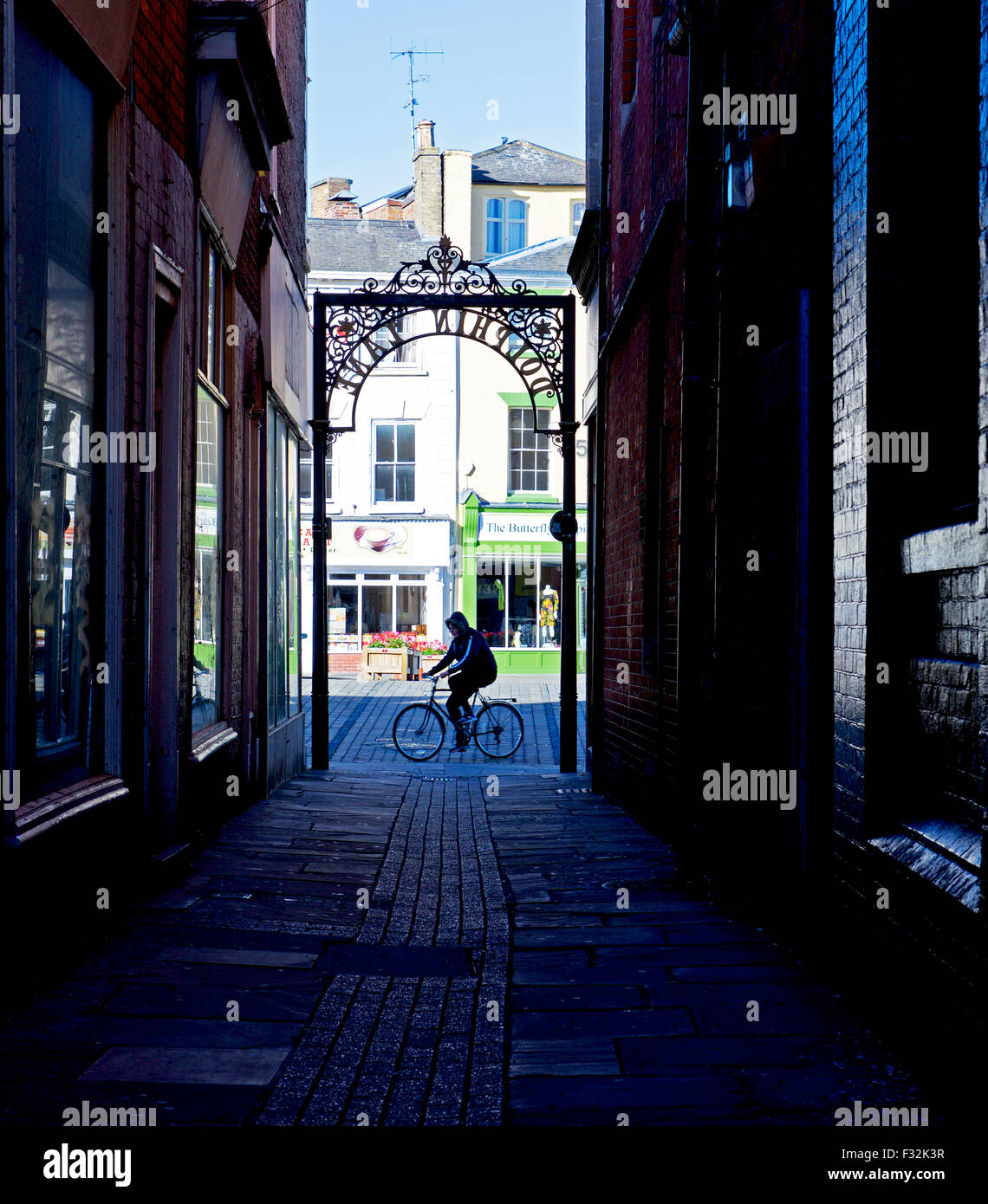 Callejón en Boston, Lincolnshire, Inglaterra Imagen De Stock